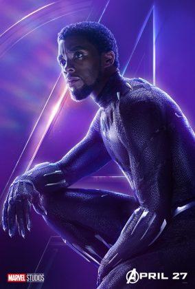 avengers infinity war poster black panther chadwick boseman 284x420 - Todos los Personajes de Avengers: Infinity War