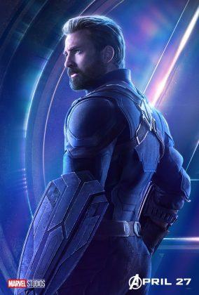 avengers infinity war poster chris evans captain america 284x420 - Todos los Personajes de Avengers: Infinity War
