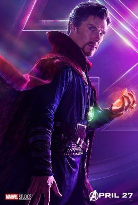 avengers infinity war poster doctor strange benedict cumberbatch 283x420 - Todos los Personajes de Avengers: Infinity War
