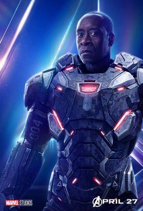 avengers infinity war poster don cheadle war machine 284x420 - Todos los Personajes de Avengers: Infinity War