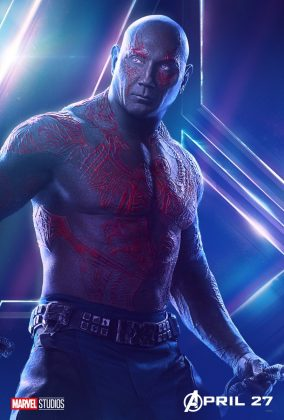 avengers infinity war poster drax dave bautista 284x420 - Todos los Personajes de Avengers: Infinity War