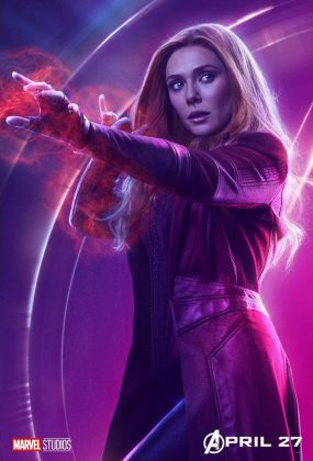 avengers infinity war poster elizabeth olsen scarlet witch 285x420 - Todos los Personajes de Avengers: Infinity War