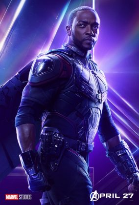 avengers infinity war poster falcon anthony mackie 284x420 - Todos los Personajes de Avengers: Infinity War