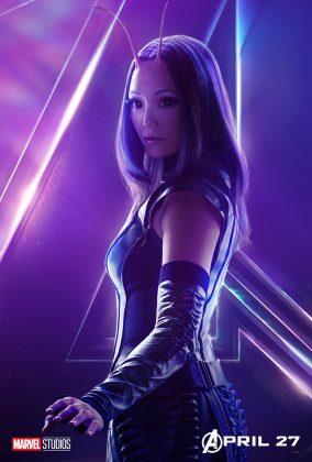 avengers infinity war poster mantis pom klementieff 284x420 - Todos los Personajes de Avengers: Infinity War