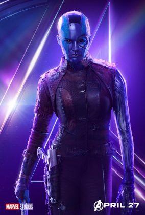 avengers infinity war poster nebula karen gillan 284x420 - Todos los Personajes de Avengers: Infinity War