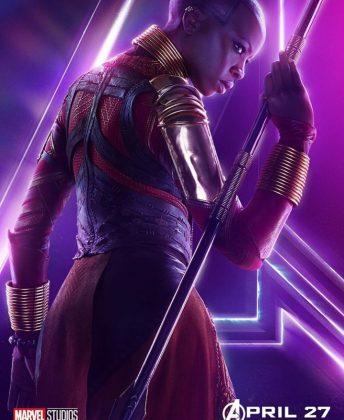 avengers infinity war poster okoye danai gurira 344x420 - Todos los Personajes de Avengers: Infinity War