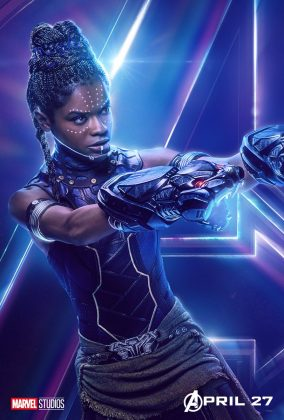 avengers infinity war poster shuri letitia wright 284x420 - Todos los Personajes de Avengers: Infinity War