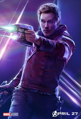 avengers infinity war poster star lord chris pratt 284x420 - Todos los Personajes de Avengers: Infinity War