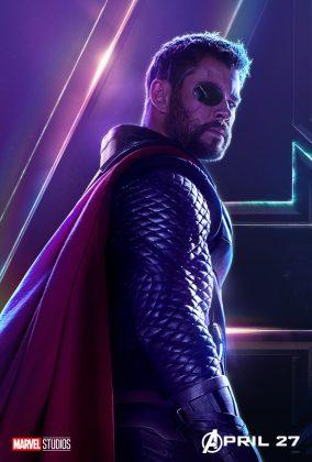 avengers infinity war poster thor chris hemsworth 284x420 - Todos los Personajes de Avengers: Infinity War