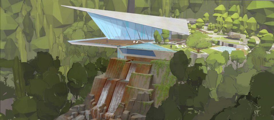 incredibles 2 house concept art 956x420 - Galería de Imágenes Conceptuales de Los Increíbles 2