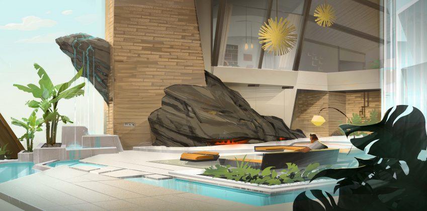 incredibles 2 parr home interior concept art 849x420 - Galería de Imágenes Conceptuales de Los Increíbles 2