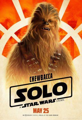 solo poster chewbacca 288x420 - Pósters con los Personajes de Solo: Una Historia de Star Wars