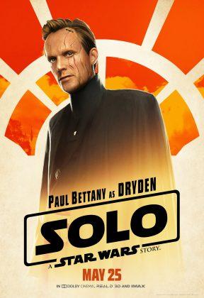 solo poster dryden 288x420 - Pósters con los Personajes de Solo: Una Historia de Star Wars