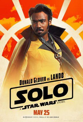 solo poster lando 288x420 - Pósters con los Personajes de Solo: Una Historia de Star Wars