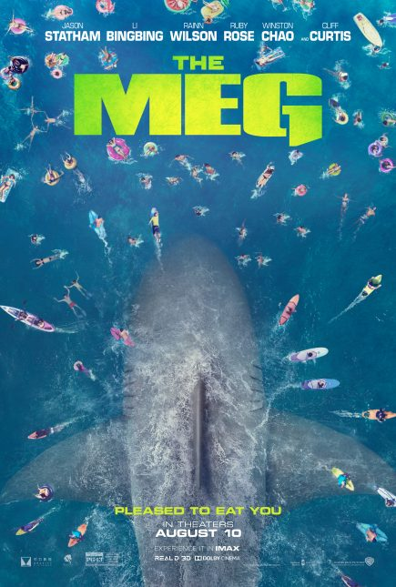 the meg poster 435x645 - Trailer Oficial de Megalodón con Jason Statham: El Mundo Contra el Tiburón Prehistórico