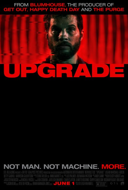 upgrade poster 435x645 - Trailer de Upgrade: Del Creador de Saw