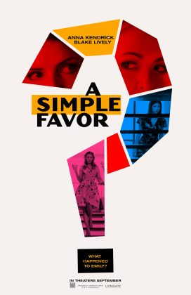 a simple favor poster 272x420 - Trailer de A Simple Favor con Anna Kendrick