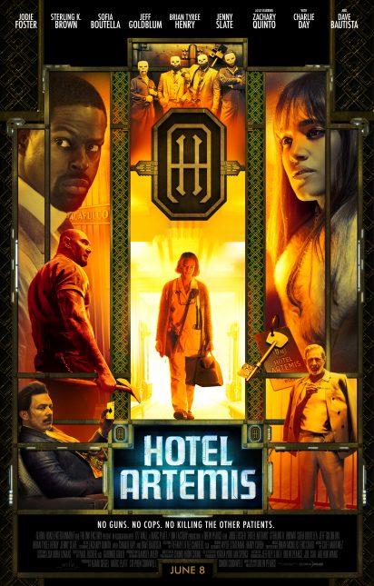 hotel artemis poster 412x645 - Trailer Rojo de Hotel Artemis