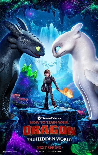 how to train your dragon hidden world poster 407x645 - La novia de Chimuelo aparece en el primer póster de Como Entrenar a tu Dragón 3