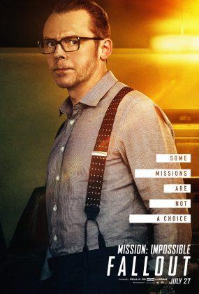 mission impossible fallout poster simon pegg 285x420 - Los Personajes de Misión: Imposible - Repercusión