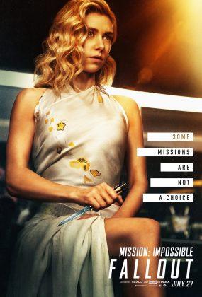 mission impossible fallout poster vanessa kirby 285x420 - Los Personajes de Misión: Imposible - Repercusión