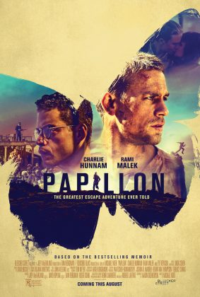 papillon poster 283x420 - Trailer de Papillon con Charlie Hunnam y Rami Malek