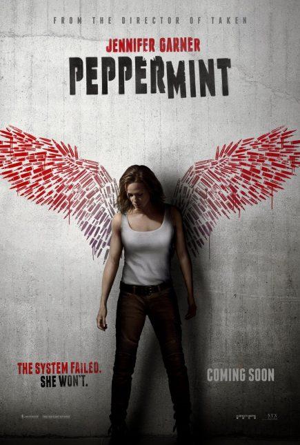 peppermint movie poster 435x645 - Trailer de Peppermint con Jennifer Garner - Otra más estilo John Wick