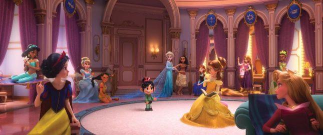 princesas disney ralph demoledor 2 645x270 - Así se ven las princesas de Disney en Ralph el Demoledor 2: WiFi Ralph