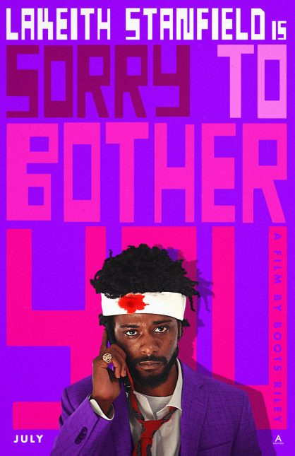 sorry to bother you poster 418x645 - Nuevo Trailer de Sorry to Bother You