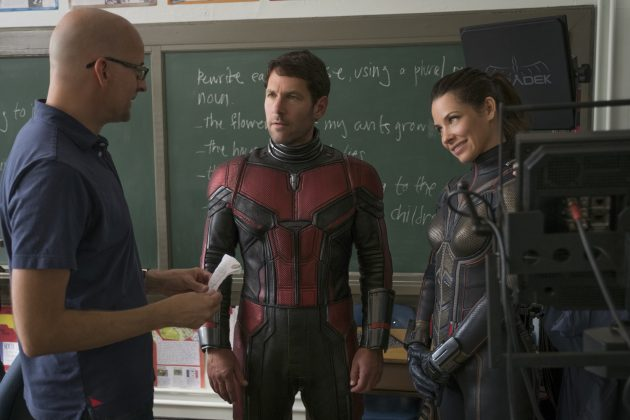 ant man and the wasp peyton reed paul rudd evangeline lilly 630x420 - Galería de imágenes detrás de cámaras de Ant-Man and the Wasp y nuevo spot para TV