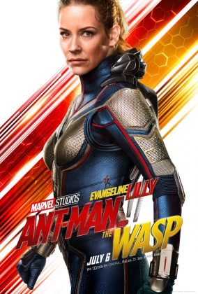 ant man and the wasp poster evangeline lilly 284x420 - Los Personajes de Ant-Man and the Wasp