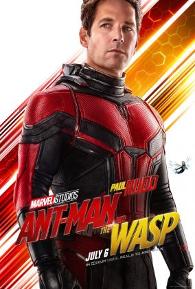 ant man and the wasp poster paul rudd 284x420 - Los Personajes de Ant-Man and the Wasp