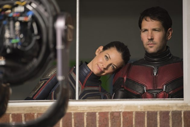 ant man and the wasp set photo paul rudd evangeline lilly 630x420 - Galería de imágenes detrás de cámaras de Ant-Man and the Wasp y nuevo spot para TV