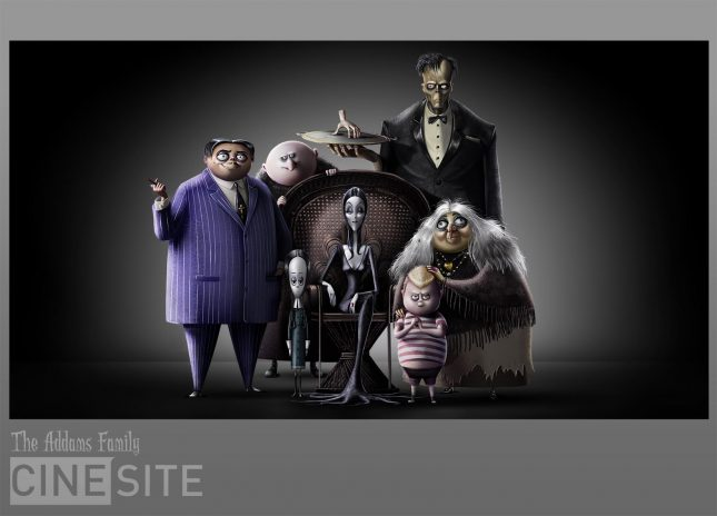 the addams family animated movie 645x464 - Así se ve la película animada de Los Locos Addams