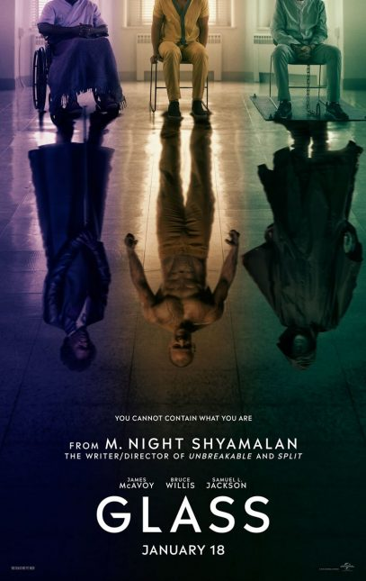 glass poster 407x645 - Primer teaser poster de Glass: la secuela de Split y Unbreakable