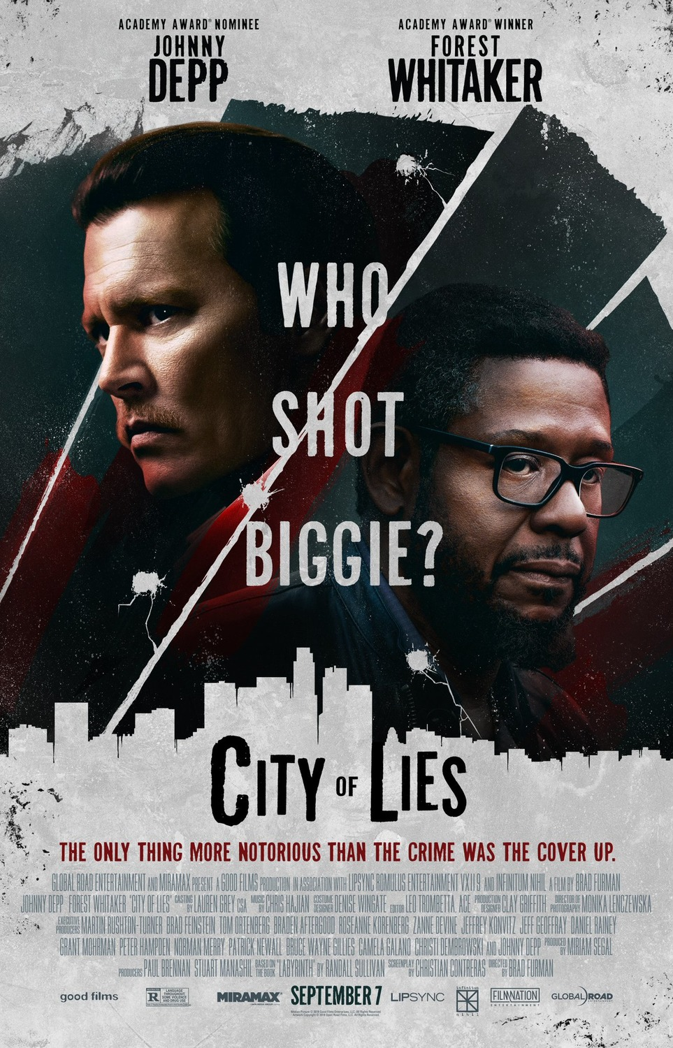 city of lies poster - City of Lies con Johnny Depp ha perdido su fecha de estreno