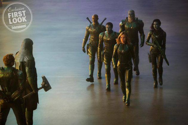 captain marvel images ew 2 630x420 - Primeras imágenes oficial de Captain Marvel con Brie Larson