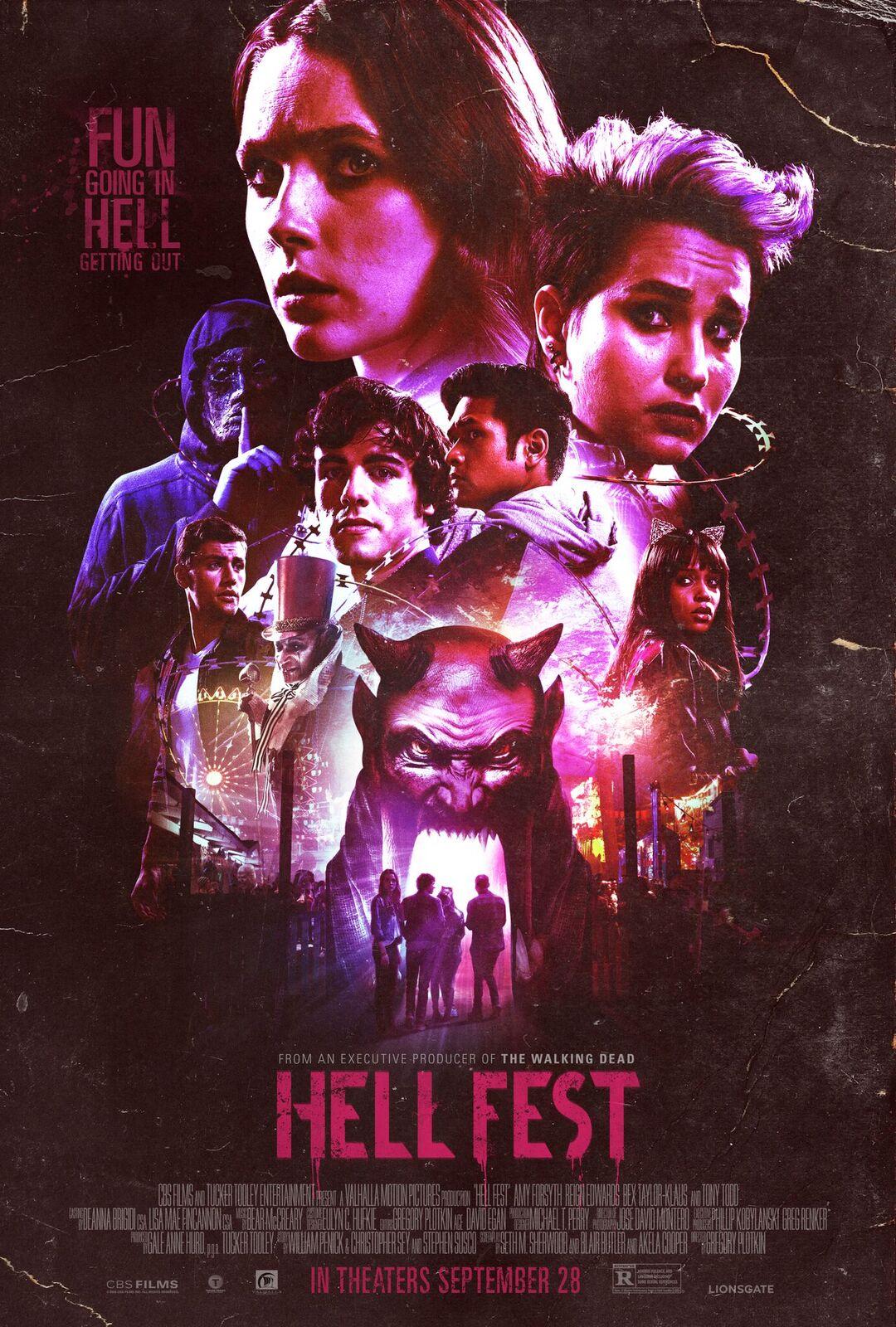 hell fest poster throwback - Trailer ochentero de Hell Fest