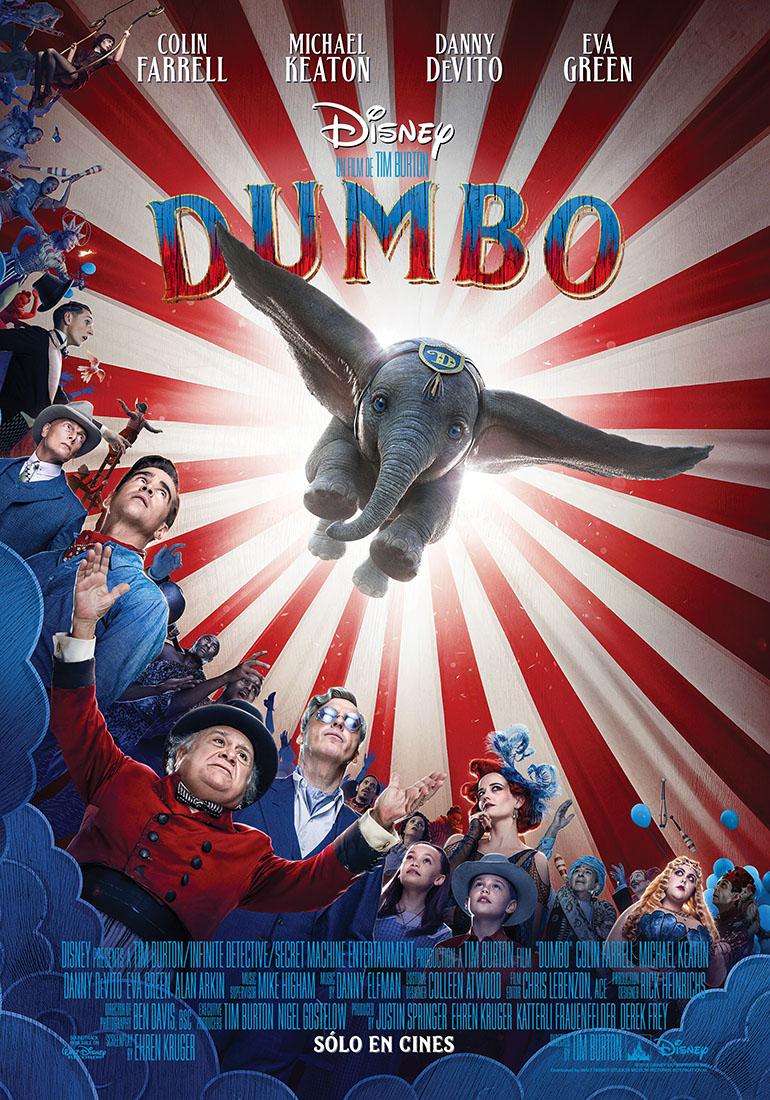 Dumbo póster oficial LatAm - Trailer subtitulado de Dumbo de Tim Burton