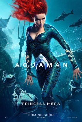 aquaman poster amber heard 284x420 - Los Personajes de Aquaman