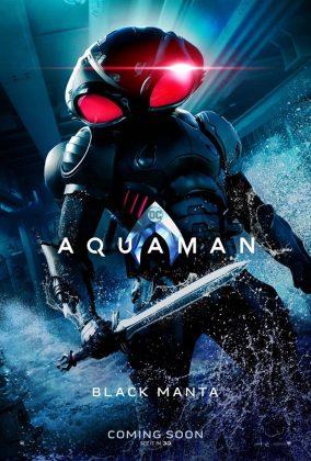 aquaman poster black manta 284x420 - Los Personajes de Aquaman