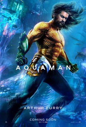 aquaman poster jason momoa 284x420 - Los Personajes de Aquaman