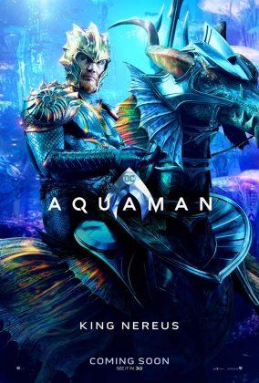 aquaman poster king nereus 284x420 - Los Personajes de Aquaman