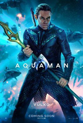 aquaman poster willem dafoe 284x420 - Los Personajes de Aquaman