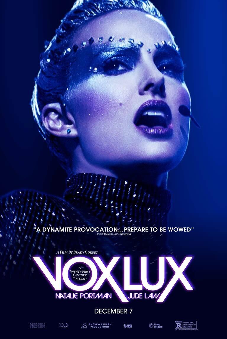 vox lux poster - Nuevo trailer de Vox Lux con Natalie Portman