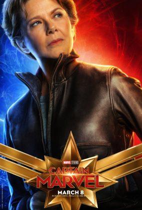 captain marvel poster annette bening 284x420 - Los Personajes de Capitana Marvel