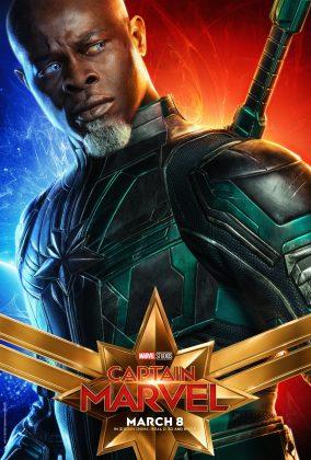 captain marvel poster djimon hounsou 284x420 - Los Personajes de Capitana Marvel