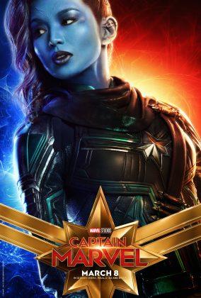 captain marvel poster gemma chan 284x420 - Los Personajes de Capitana Marvel