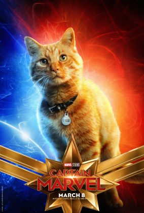 captain marvel poster goose 284x420 - Los Personajes de Capitana Marvel