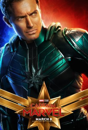 captain marvel poster jude law 284x420 - Los Personajes de Capitana Marvel